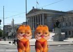 Garfields vor Parlament