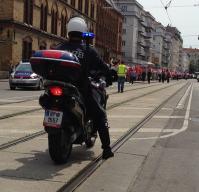 Die Wiener Polizei beim Schutz einer Demo gegen Erdogan
