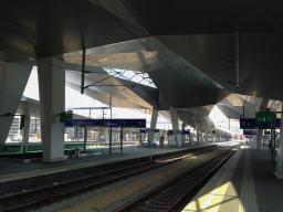 Einige Gleise des Hbf sind 2013 bereits in Betrieb